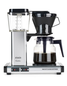 Image of the Moccamaster drip filter coffee maker available from Leaf Ban Machine.